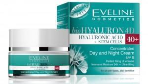 Гиалуроновый крем Eveline bio HYALURON 4D для увлажнения кожи