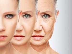 Старение кожи лица у женщины